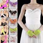 Long Short Fishnet Fingerless Gloves Fancy Dress Neon Colors 80s Dance Tutu