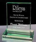 Personalised Rectangle Jade Glass Snooker or Pool Award Trophy, Laser Engraved
