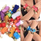 Hot 1 Pair 18 Coins Belly Dancing Wristlet Chiffon Wristband Ankle Cuff Bracelet