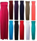 Womens Strapless Summer Ladies Maxi Dress Long Jersey Dress Plus Sizes 8-22