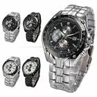4 Color CURREN Classic Stainless Steel Date Quartz Men's Army Sport Wrist Watch