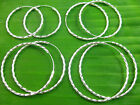925 sterling silver twisted sleepers hoops earrings 2mm x 35m, 40mm, 45mm, 50mm
