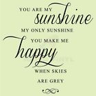 YOU ARE MY SUNSHINE HAPPY SKIES Wall Decal Wall Sticker Home Life Wall Art Decal
