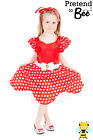 Minnie Mouse fancy dress up BNWT 3-9yrs Girls Princess Mouse Costume Hair Ribbon