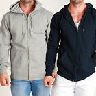 Mens Designer Quality Plain THICK Fleece ZIP Hoody BASIC Hoodies & Jumpers INDEX