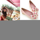 Women Polka Bow Flats Dolly Ballet Ballerinas Pumps Comfy Casual Shoes Loafers