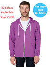 American Apparel Hoodie Zip Hoody In 22 Colours Sizes XS - XXL