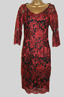 NEW MARKS AND SPENCER PER UNA 1940sCLARET RED Party DRESS 8 10 12 14 16 18 20 22