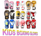 Kids Boxing Gloves Punch Bag Sparring Training Mitts MMA 4oz 6oz 8oz R A X