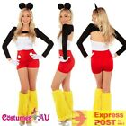 Ladies Minnie Mickey Mouse Fancy Dress Up Costume Halloween Disney Theme