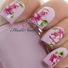 Nail Art Wraps Water Transfers Decals Y604 Red Flowers Rose Salon Quality