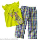 Carters Girls ~ Sparkly Giraffe Pajama Sleep Set PJs ~ 2 Piece ~ 18 months ~ NEW