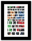 THE BEATLES - I Am The Walrus ❤ song lyrics typography poster art print A1 A2 A3