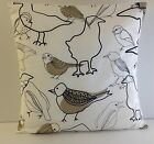 BRAND NEW BROWN  BIRD CUSHION COVERS MADE USING IKEA FABRIC