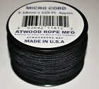 New Many Colors Nylon Micro Cord 1.18mm 3/64 by 125ft Rope Spool Made in the USA