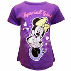 Young Girls Official Disney Minnie Mouse Special Girl Purple T-shirt Ages 2-5