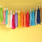 5pcs Tissue Paper Hanging Tassel Wedding Party Decoration Multi-color Decor