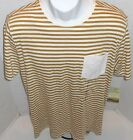 QUIKSILVER Men's Ivory Striped Konk Tee Shirt Sizes S-M