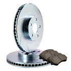 [FRONT] 2 SLOTTED ONLY PERFORMANCE BRAKE ROTORS +4 SEMI-METALLIC PADS ATL046743