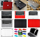 5in1 3D Carbon Fiber Sticker Keyboard Screen Protector For Macbook Pro 15