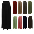 LADIES LONG JERSEY WOMENS MAXI SKIRT SIZES 8-14