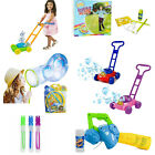 Kids Childrens Bubble Machine Gun Blower Solution Birthday Party Bubbles Toy