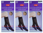 Flight Travel DVT Support Socks Knee High Comfort Top Size 3-8  3 Pairs