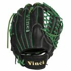 Vinci Pro 22 Series Mesh Back JC3333-22 Baseball Glove Black with Green Welting