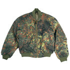 MIL-TEC MA-1 MENS ARMY FLIGHT JACKET TACTICAL PILOT BOMBER COAT FLECKTARN CAMO