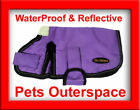 Reflective Waterproof Purple Dog Rug Coat Jacket Med to Large 40, 45, 50, 55cm