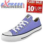 Converse Womens Girls Chuck Taylor All Star Lo Trainers Lilac * AUTHENTIC *