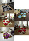 Hand Tufted Large Contemporary Floor Rug Floral Design 100% Acrylic Hong Kong