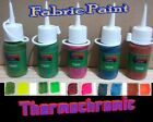 Set of Five Heat reactive colour change Thermochromic FABRIC Paint  20ml  30ml