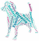 PERSONALISED CUSTOM WORD ART PRINT, ANY COLOUR, COMPLETELY UNIQUE, DOG