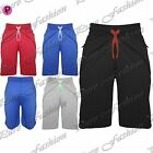 Mens Summer Adjustable Waist String Plain New Beach Knee Length Gym Shorts