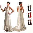 Sexy bridesmaid formal wedding prom maxi evening gown dress US 6-18 6006