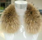 C037 New Raccoon fur scarf collar wraps real fur winter women scarves 50cm
