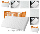 NURSERY BABY QUILTED AND BREATHABLE CRADLE  PRAM  SWING  COT  CRIB MATTRESS