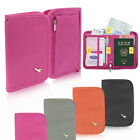 Travel Organiser Wallet Bag Passport Holder Document Card Zipped Full Closure