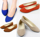 summer Women ladies  Loafers suede low to help shallow mouth Pointed wild shoes