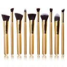 10Pcs Pro Makeup Brushes Set Kit Cosmetic Eyeshadow Powder Foundation Lip Brush