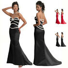 Off shoulder bridesmaid prom formal gown evening dress US 6-18 e7013