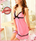 Pink Silky Chemise Nightie Nightwear Lingerie Nightdress Slipdress Nightslip S
