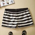 Women's New Fashion Soft Summer Concise Causual Middle Waist Stripe Shorts