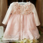 Vintage Baby Girl Dress*Wedding*Christening*Birthday*Party*Formal Wear*3-24M