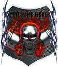 Machine Head flaming skull pistons race car go kart motorcycle graphic decal