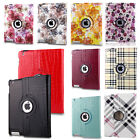 PU Leather 360 Degree Rotating Cover Smart Stand Case Fr Apple iPad 4 iPad 3 & 2