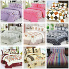 Patchwork Queen/King Size Bedspreads Set Coverlet Quilted Blanket Bed Throw Rug