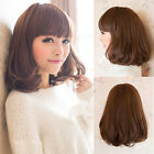 New Style Womens Medium Long Curly Wavy Hair Full Wigs Cosplay Party Costume