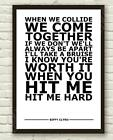 Biffy Clyro Many Of Horror White Typography Song Lyric Art Poster Print A4 A3